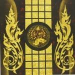 พระพิฆเนศวร 16กร ภาพวาด ติด ทองคำเปลวแท้100% ขนาด1x1เมตร