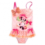 Minnie Mouse Clubhouse Deluxe Swimsuit for Girls ของแท้ นำเข้าจากอเมริกา