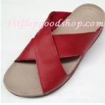 รองเท้า Fitflob XOSA สายคาดกากบาท สีแดง No.FF169