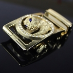 Pre-order หัวเข็มขัดสังกะสีหล่อชุบทอง รูปหัวเสือดาว แบบลอยตัว