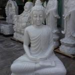 พระพุทธรูปหินอ่อน หน้าตัก 100 สูง 150 ลึก 70 cm