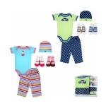 Gift Set เซ็ทของขวัญเด็กแรกเกิด Luvable Friends เสื้อยืด กางเกงขายาว หมวก ถุงเท้า