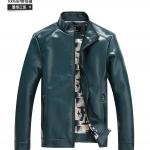 Pre-Order เสื้อแจ็คเก็ตหนังแกะ ผิวมัน สีเขียวเข้ม (สินค้าช่วงโปรโมชั่นพิเศษ)