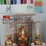 ศาลเจ้าที่จีน 27 นิ้ว 3 หลังคา (หินสีเทา)