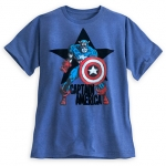 z Captain America Flocked Tee for Men