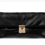 พร้อมส่ง กระเป๋าคลัช (Clutch Bags) สีดำ มีสายคล้องมือ มีสายสะพายยาวถอดออกได้