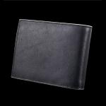 Pre-order กระเป๋าสตางค์ผู้ชาย หนังแท้ แบบสั้น แนวนอน สีดำ ตกแต่งรายละเอียดสีเบจ กระเป๋าแฟชั่นเวอร์ชั่นเกาหลี