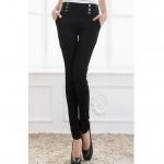 Pre order กางเกงทำงาน กางเกงลำลอง กางเกงแฟชั่นเกาหลี BIG SIZE สีดำ