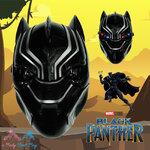 """ Mask black panther - หน้ากากแบล็ค แพนเธอร์ ไฟกระพริบที่ตา"