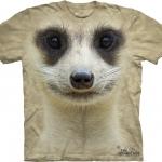 Pre.เสื้อยืดพิมพ์ลาย3D The Mountain T-shirt : Meerkat Face