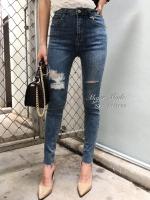 กางเกงแฟชั่น กางเกงยีนส์ฟอกสีใหม่ แต่งขาดเซอร์ สไตล์ CPS CHAPS