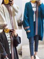 เสื้อแฟชั่น เสื้อไหมพรม แขนยาว ทอใส่คลุมเข้ากับเสื้อผ้าง่าย