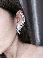 พร้อมส่ง ~ diamond cuff Earring ต่างหูทรงเพชร ครอบหู งานเกรดแพงที่สุด