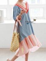 เดรสแฟชั่น Dress รุ่นโกรคซี่เลิฟเดรน เนื้อผ้าคอนตอนสเปนเดค