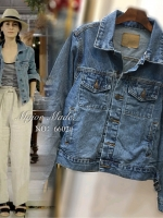 เสื้อแฟชั่น Denim Jacket แจ๊คเก็ตยีนส์แขนยาว สไตร์ซาร่า