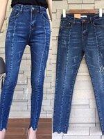 กางเกงแฟชั่น กางเกงยีนส์เอวสูง ทรงเข้ารูป ฟอกสีสวยมากๆ
