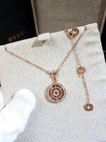 พร้อมส่ง ~ Diamond Bvlgari Necklace สร้อยคอบูการี่เพชรหมุนรอบ180องศา