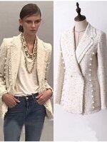 เสื้อแฟชั่น แจ็คเก็ตผ้าทวีต สวยหรูดูแพง คัตติ้งเนี้ยบ ซับในอย่างดี