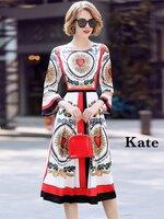 เดรสแฟชั่น Dress หัวใจสีแดง สวยสดใส ดีเทลแขนยาว