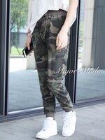 กางเกงขายาวลายทหาร ทรงจั๊มปลายขาช่วงเอว น่ารักที่ซู้ดดด