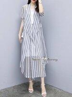 ชุดเซทแฟชั่น ชุดเซ็ทเสื้อคลุมยาว+เสื้อซับใน+กางเกงงานเกาหลี