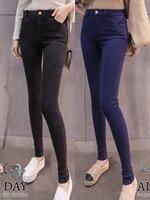 กางเกงแฟชั่น กางเกงยีนส์ผ้ายืดสแปนเดกซ์ มีซิปหน้า