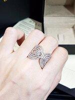 พร้อมส่ง ~ diamond Ring แหวนทรงเพชรสาน สไตส์บูการี่