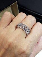 พร้อมส่ง ~ diamond Ring แหวนเพชรทั้งวง สไตส์วินเทจ งานเพชรสวิสฝังแบบ Microsetting