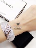 พร้อมส่ง ~ Chanel Bracelet กำไรชาแนลเพชร CZ ฝังอย่างดี งานไฮเอนจิวเวอรี่สวยมากค่ะ