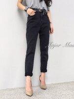 กางเกงแฟชั่น High-waist jeans by Zara กางเกงยีนส์ทรง boyfriend