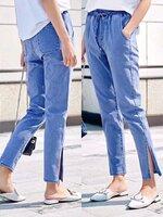 กางเกงแฟชั่น กางเกงยีนส์ทรงเดฟ ผ้ายีนส์ฮ่องกง