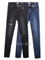 กางเกงแฟชั่น กางเกงขายาวสไตล์เกาหลี ทรงเอวสูง งานผ้ายีนฟอกสีสวยมากค่าา