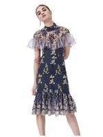 เดรสแฟชั่น DRESSแบรนด์ดัง งานสวยงานปัง เนื้อผ้าดี ทรงเข้ารูป ช่วงบนแต่งระบายอย่างดี