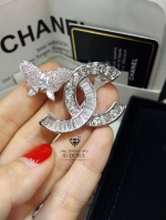 พร้อมส่ง ~ Butterfly Brooch Chanel ผีเสื้อ งานเพชร CZ แท้