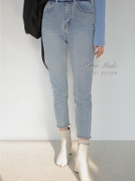 กางเกงแฟชั่น กางเกงยีนส์ทรง Boyfriend แบบแบรนด์ดังของเกาหลี
