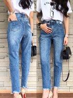กางเกงแฟชั่น กางเกงยีนส์ทรงบอยรุ่นใหม่ แพทเทินเกาหลีเป๊ะทุกจุด