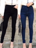 กางเกงแฟชั่น High waist skinny jeans กางเกงยีนส์สกินนี่ เอวสูง