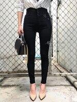 กางเกงแฟชั่น กางเกงสกินนี่รุ่นใหม่ เอวสูง กระดุม 3 เม็ด