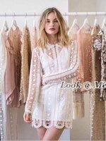 เดรสแฟชั่น Dress ชุดกระโปรงคอปกแขนยาวเนื้อผ้าอย่างดี