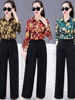 ชุดเซทแฟชั่น เซทเสื้อกับกางเกง งานสวยมาก พิมพ์ลายสวยงาม