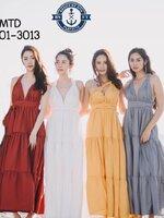 เดรสแฟชั่น ชุด maxi dress ที่โดดเด่น มี 4 สี