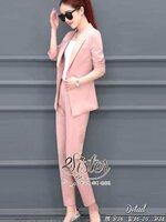 ชุดเซทแฟชั่น เซ็ตเสื้อ+กางเกงเข้าชุดกัน เนื้อผ้า polyester สีหวานสวย