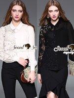 เสื้อแฟชั่น ลุคสาวไฮคลาสงานสวยหรู โทนเสื้อเชิ๊ท 2 สีคลาสสิคขาวดำสวยมากคะ