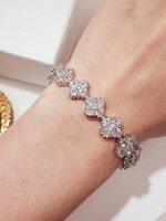 พร้อมส่ง ~ Van Diamond Bracelet ข้อมือ แบรนด์ Van cleef เพชรเต็มเส้น