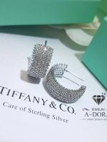 พร้อมส่ง ~ Diamond circle earring ต่างหูเพชร ทรงครึ่งวง