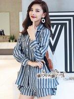 ชุดเซทแฟชั่น งานเซ็ทลุคสาวเกาหลี ทรงเสื้อสูทแต่งปกโค้ง