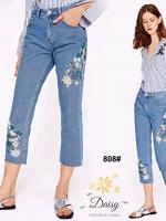 กางเกงแฟชั่น กางเกงยีนส์ทรงเดฟ ผ้ายีนส์ฮ่องกง รุ่นขายาวผลิตมาไซส์ใหญ่