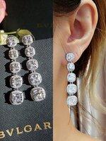 long diamond earring ต่างหู l เพชรเหลี่ยม ทรงระย้า