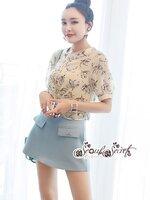 ชุดเซทแฟชั่น งานเซ็ท 2 ชิ้น ลุคสาวเกาหลี งานเสื้อเชิ๊ทเนื้อผ้าชีฟองแบบโปร่ง