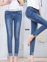 กางเกงแฟชั่น กางเกงยีนส์ทรงเดฟผ้ายีนส์ฮ่องกง ผ้า Super elastic เป็นผ้ารุ่นใหม่